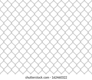 Grey toned wire fence seamless pattern on white (jpg also available in portfolio)