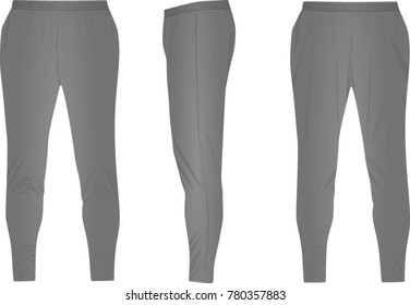 Grey tracksuit bottom. vector illustration