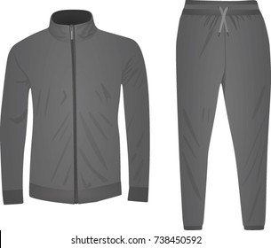 Grey tracksuit. vector illustration