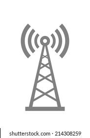Grey transmitter icon on white background
