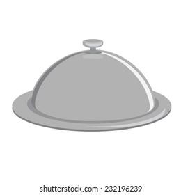 Grey tray, kitchenware, trey isolated, tray vector, closed tray