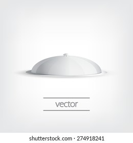 Grey tray, vector graphic design, stylish concept eps10
