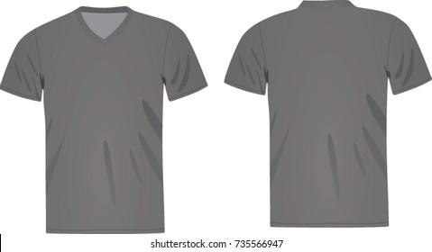 grey t shirt v neck