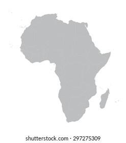 grey vector map of Africa