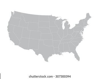 1000+ Us Map Vector Stock Images, Photos & Vectors ...