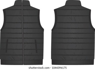 Grey vest. vector illustration