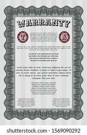 Grey Vintage Warranty template. Beauty design. Customizable, Easy to edit and change colors. Easy to print.