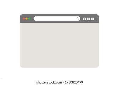 grey web browser isolated on white background vector