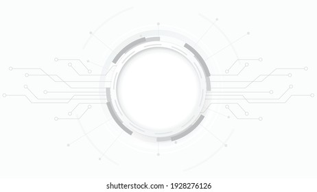 Grey white Abstract technology background,Hi tech digital connect, communication, high technology concept, science, technology background