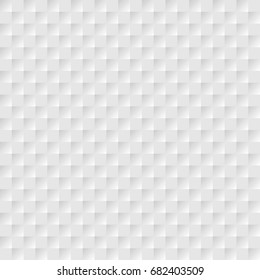 Grey white geometric background with square. Vector abstract graphic design. Seamless pattern. Origami style