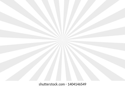 Grey and white rays background, starburst background, grey abstract sun rays