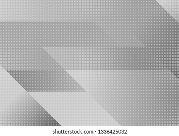 Grey white tech geometric minimal abstract background. Vector design