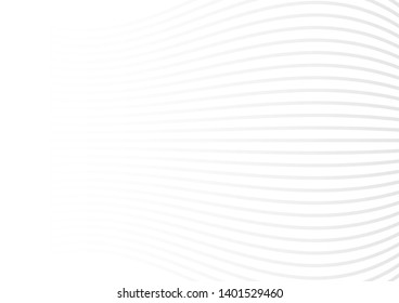 grey white waves and lines abstract background.Vector illustration.