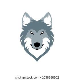 Grey Wolves Head Simple Design