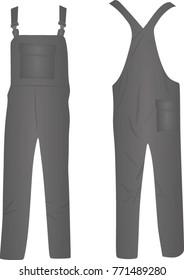 Grey working uniform. vector illustration
