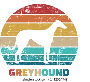 Greyhound silhouette vintage and retro
