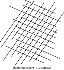 Grid background. Black mesh on a white background. Vector illustration. There is a place for text. Copy space.