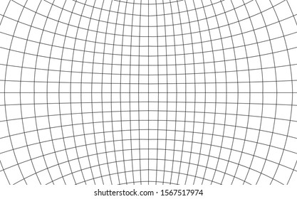 Grid curved background empty in perspective, vector illustration