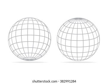 grid earth globe icon