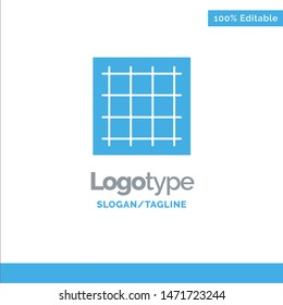Grid, Graph, Drawing, area, software Blue Solid Logo Template. Place for Tagline