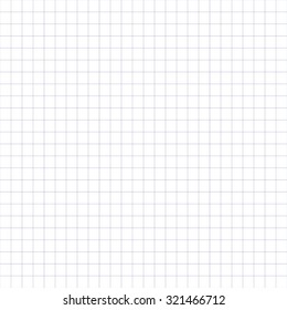 Grid, mesh background. Intersecting lines pattern, texture. Seamlessly repeatable vector pattern. Millimeter, graph paper pattern. Planning, design concept. Blank background.