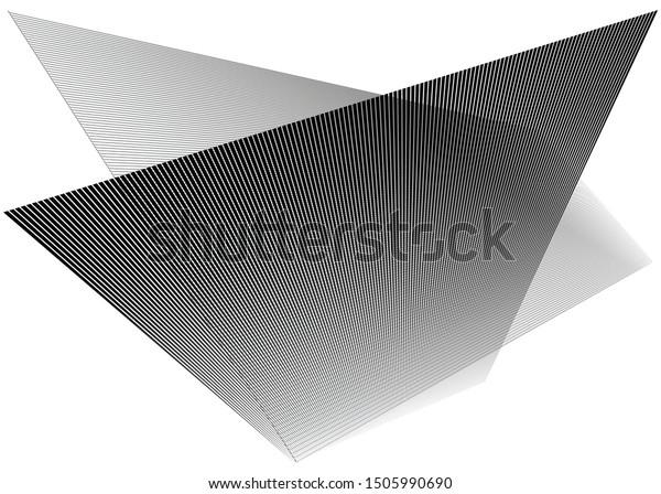 Grid, mesh with dynamic lines. Intersecting stripes. Irregular grating, lattice texture. Interlocking, criss-cross abstract geometric illustration
