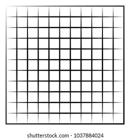 Grid, mesh, intersecting lines isolated on white