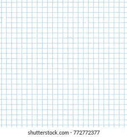 Grid paper seamless background. Vector Endless backdrop of notebook page
