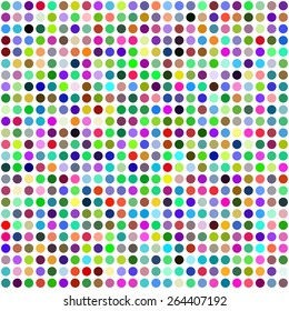 Grid of Random Colored Circles. Seamless Background. EPS8 Vector