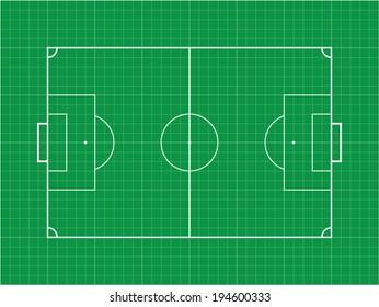 Grid Soccer football field