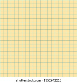grid square graph line full page on yellow paper background, paper grid square graph line texture of note book blank, grid line on paper yellow color, empty squared grid graph for architecture design