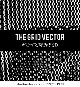 The Grid vector background with grunge texture for creation design of banners, wallpapers ,flyers, web site with grunge industrial sphere.