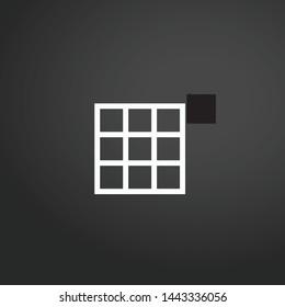 Grid vector icon. Grid concept stroke symbol design. Thin graphic elements vector illustration, outline pattern for your web site design, logo, UI. EPS 10.