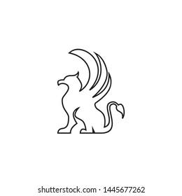 griffin gargoyle logo illustration on white background