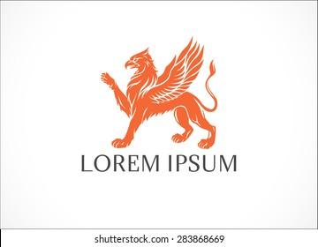 Griffin icon. Vector logo design template