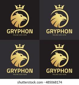 griffin logo design template ,Griffin logo set ,Vector ilustration