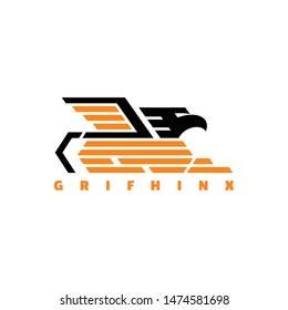 griffin logo with flat style mix from griffin and sphinx, design for business that you need