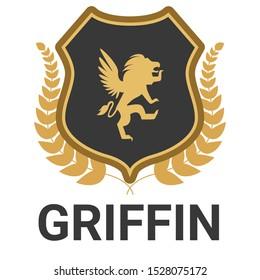 Griffin logo vector icon  art