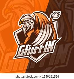 griffin mascot esport logo design