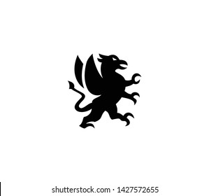 Griffin vector isolated flat illustration. Griffin icon