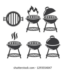 Grill and barbecue icons