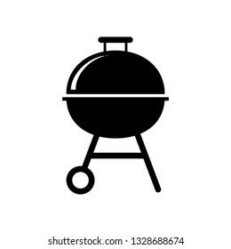 Grill, barbecue vector icon.