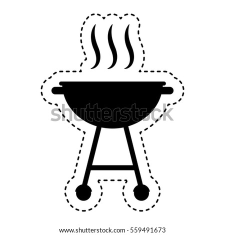 Grill Bbq Isolated Icon Vector Illustration Stock Vector Royalty
