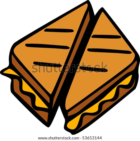 grilled cheese sandwich stock vector royalty free 53653144 rh shutterstock com grilled cheese clip art free Funny Grilled Cheese