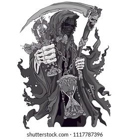 Grim death with a scythe