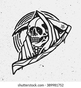 Grim Reaper Illustration.