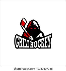 Grim sport Hockey mascot logo design
