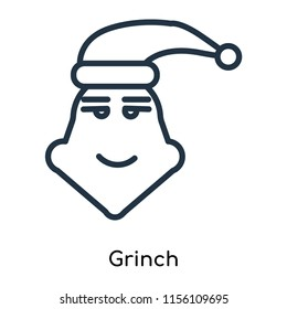 Grinch icon vector isolated on white background, Grinch transparent sign , thin symbols or lined elements in outline style