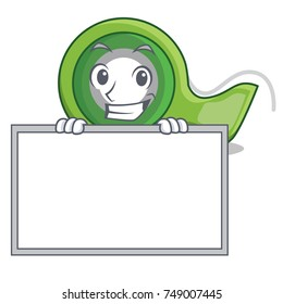 Grinning with board adhesive tape character cartoon