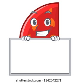 Grinning with board quadrant character cartoon style